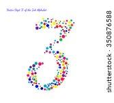 vector digit 3 from bright... | Shutterstock .eps vector #350876588