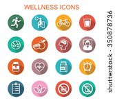 wellness long shadow icons ... | Shutterstock .eps vector #350878736
