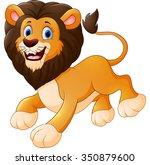 cute lion cartoon | Shutterstock . vector #350879600