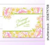 vintage delicate invitation... | Shutterstock .eps vector #350879708