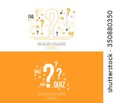 quiz vector background.  | Shutterstock .eps vector #350880350