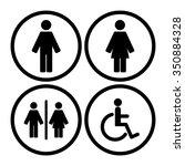 toilet sign | Shutterstock .eps vector #350884328