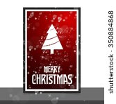 merry christmas card  stylized... | Shutterstock .eps vector #350884868