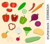 vegetables set | Shutterstock .eps vector #350888264