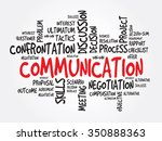 communication concept word... | Shutterstock . vector #350888363