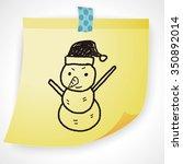 snowman doodle | Shutterstock .eps vector #350892014