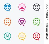 smile speech bubbles icons.... | Shutterstock .eps vector #350892770
