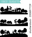 vector horizontal silhouettes... | Shutterstock .eps vector #350897729