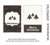 merry christmas card  stylized... | Shutterstock .eps vector #350902763