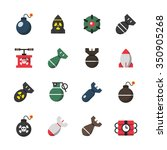 bomb flat icons. | Shutterstock .eps vector #350905268