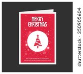 merry christmas card  stylized... | Shutterstock .eps vector #350905604