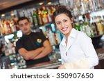 waitress restaurant catering... | Shutterstock . vector #350907650