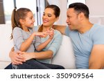 relaxed family spend quality... | Shutterstock . vector #350909564