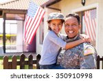 portrait of us army soldier and ... | Shutterstock . vector #350910998