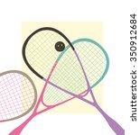 vector squash racket   Shutterstock .eps vector #350912684