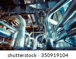 equipment  cables and piping as ... | Shutterstock . vector #350919104