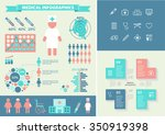 medical infographic set with... | Shutterstock .eps vector #350919398