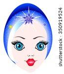 maiden face. | Shutterstock .eps vector #350919524