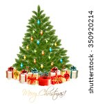 merry christmas card with... | Shutterstock .eps vector #350920214