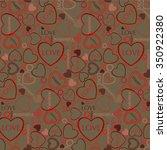 valentines heart. vector... | Shutterstock .eps vector #350922380