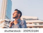 young handsome man with short... | Shutterstock . vector #350923184