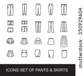 icons set of pants and skirts | Shutterstock .eps vector #350929604