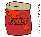 freehand drawn cartoon jar of... | Shutterstock .eps vector #350942954