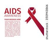 aids awareness ribbon design...   Shutterstock .eps vector #350943866