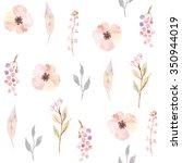 watercolor seamless pattern...   Shutterstock .eps vector #350944019
