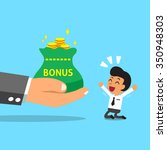 business big hand giving bonus...   Shutterstock .eps vector #350948303