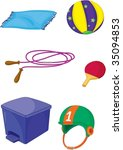 illustration of various objects ... | Shutterstock .eps vector #35094853