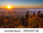 Stock photo sunrise at clingmans dome in great smoky mountains national park 350949728
