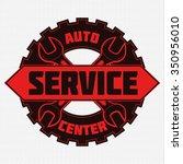 vintage mechanic auto service... | Shutterstock .eps vector #350956010