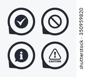 information icons. stop... | Shutterstock .eps vector #350959820