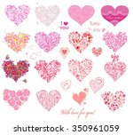 hearts collection | Shutterstock .eps vector #350961059