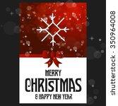 vector snowflake flat icon card.... | Shutterstock .eps vector #350964008