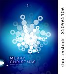 christmas blue color abstract... | Shutterstock .eps vector #350965106