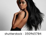 beauty black woman from the... | Shutterstock . vector #350965784