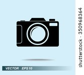 photo camera sign icon  vector... | Shutterstock .eps vector #350968364