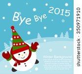 snowman 2015 | Shutterstock .eps vector #350971910