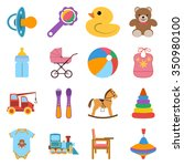 baby colorful icons set. icons... | Shutterstock .eps vector #350980100