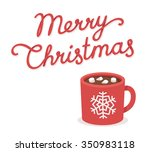 merry christmas greeting card... | Shutterstock .eps vector #350983118