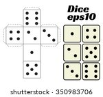 dice set. vector illustration.... | Shutterstock .eps vector #350983706