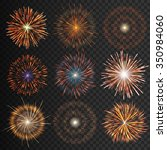 festive patterned transparent... | Shutterstock .eps vector #350984060