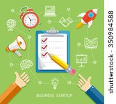 business startup concept with... | Shutterstock .eps vector #350984588