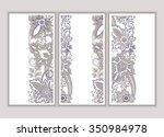 set of  wedding invitation.... | Shutterstock .eps vector #350984978