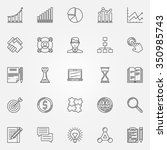 business strategy linear icons  ... | Shutterstock .eps vector #350985743