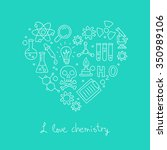 icons for chemistry in the form ... | Shutterstock .eps vector #350989106