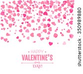 valentine's day card. falling... | Shutterstock .eps vector #350989880