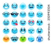cartoon water drops emoticons.... | Shutterstock .eps vector #350993504
